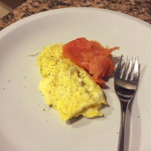 1 scrambled egg with side of lox